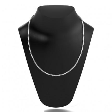 Full Bezel Setting Round Diamond Tennis Necklace