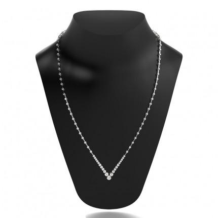 2-Kloinfattad Briljant Diamant Halsband