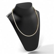 Gelbgold Tennis Anhänger Halsketten