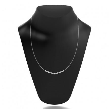 4-Kloinfattad Briljant Diamant Halsband