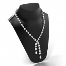 White Gold Tennis Necklaces Pendants