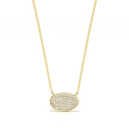Micro Pave Setting Diamond Cluster Necklace