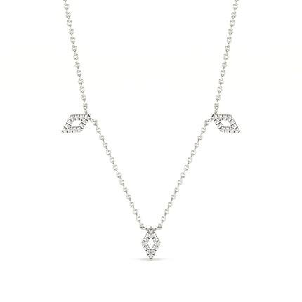 Collier de créateur diamant rond serti micro griffes