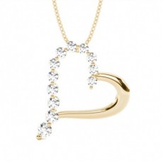 Yellow Gold Diamond Pendants & Necklaces