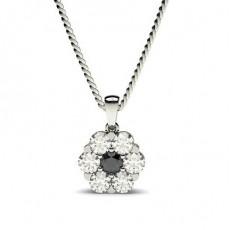 Rond Pendentif Diamant Noir and un Collier Chic et Tendance