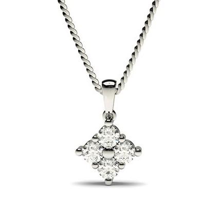 Kloinfattad Svart Diamant Klusterhänge