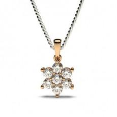 Or Rose Pendentif Diamant