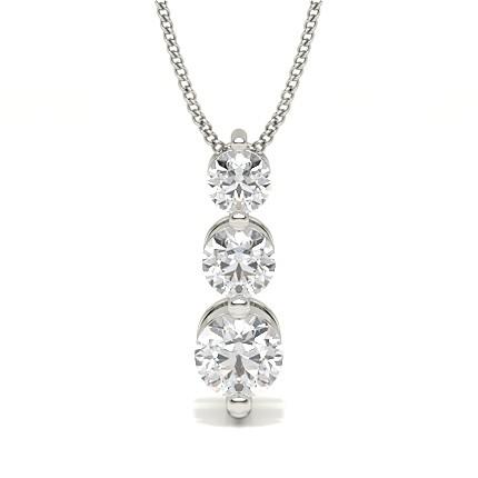 2-kloinfattad briljant diamant långt hänge