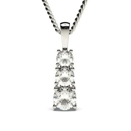 4-kloinfattad briljant diamant långt hänge