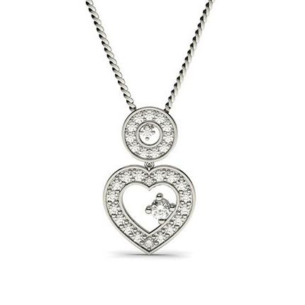 4-Kloinfattad Briljant Diamant Dropphänge