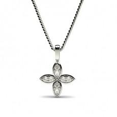 Rund Delikat Diamant Anheng
