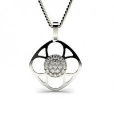 Round Delicate Diamond Pendants