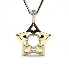 Gult Gull Delikat Diamant Anheng