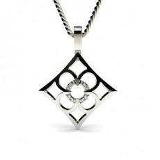 Platino Collane delicate con ciondoli di diamanti