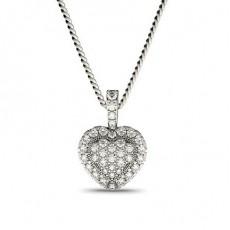 Round Heart Pendants Necklaces