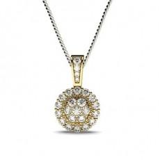 Gult Gull Klynge Diamant Anheng