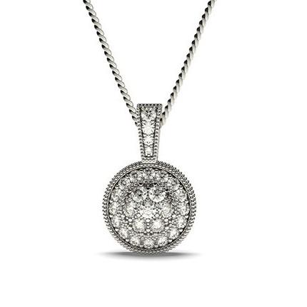 Pavéfattad Briljant Diamant Klusterhänge
