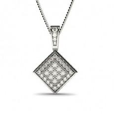 Rund Klynge Diamant Anheng