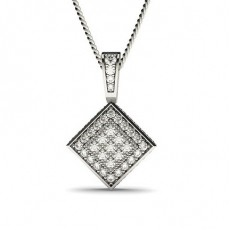 Platina Klynge Diamant Anheng