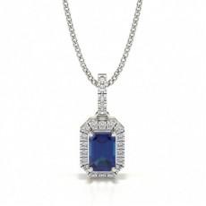 Smaragd Diamant Vedhæng