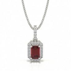Platinum Ruby Pendants