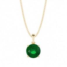 Gult Gull Smaragd Diamant Anheng