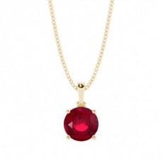 Gult Gull Rubin Diamant Anheng