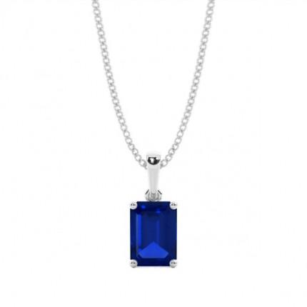 4 Zinkeneinstellung Blue Sapphire Pendent