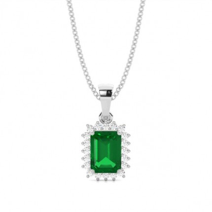 Prong Setting Emerald Pendent