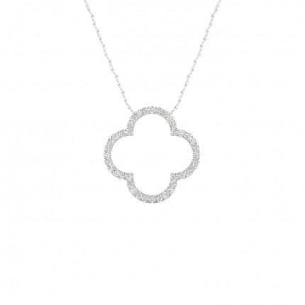 Micro Prong Setting Round Diamond Delicate Pendant