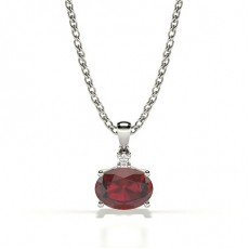 Prong Setting Solitaire Ruby Pendant