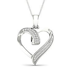 Micro Pave Diamond Heart Pendant