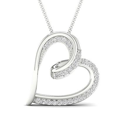 Micro Diamant Hjerte Vedhængindfatning