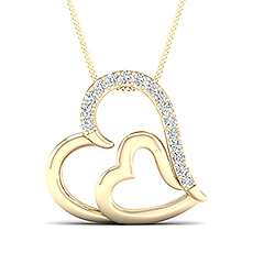 Yellow Gold Heart Pendants