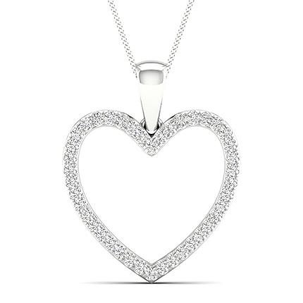 Micro Pave Diamant Herz Anhänger