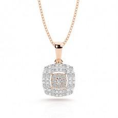 Oro rosa Colgantes de Diamantes