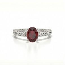 Oval Ruby Rings