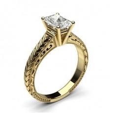 Radiant Vintage Engagement Rings