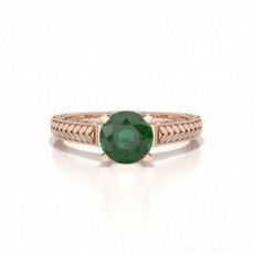 Rose Gold Emerald Engagement Rings