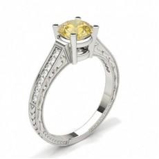Weißgold Vintage Verlobungsringe