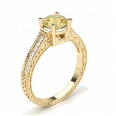 Gelbgold Vintage Verlobungsringe