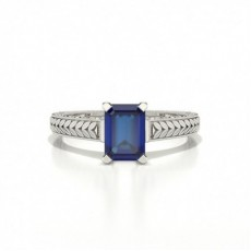 Emerald Sapphire Engagement Rings