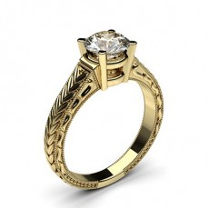 Oro giallo Anelli di fidanzamento vintage