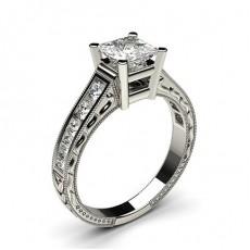 Princess Vintage Diamond Engagement Rings