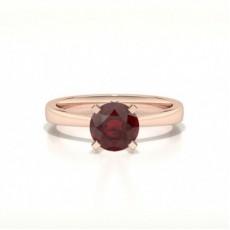 Or Rose Bague En Diamant Rubis