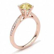 Rose Gold Yellow Diamond Engagement Rings