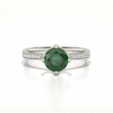 Brilliant Smaragd Diamantringe