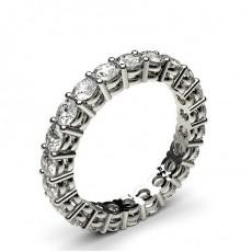Or Blanc Bagues d'éternité En Diamant