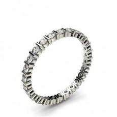 Eternity Diamant Ring in einer Balkenfassung