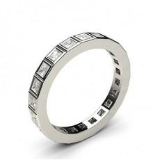 Eternity Diamant Ring in einer Zargenfassung